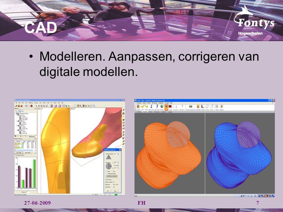 CAD Modelleren. Aanpassen, corrigeren van digitale modellen.