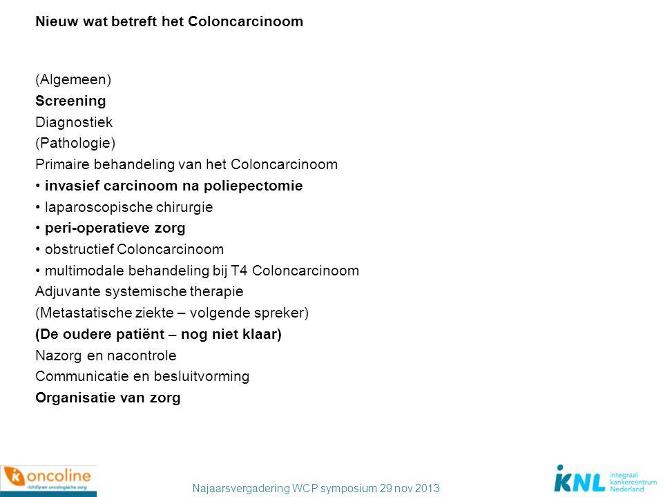 Nieuw wat betreft het Coloncarcinoom