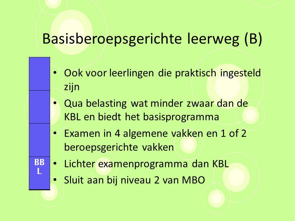 Basisberoepsgerichte leerweg (B)