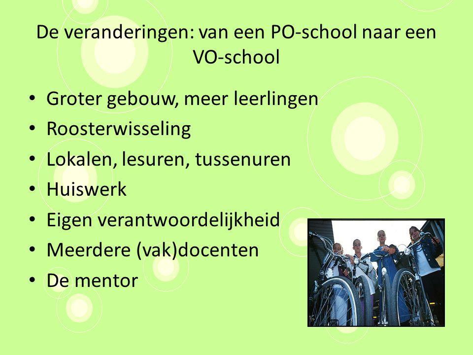 De veranderingen: van een PO-school naar een VO-school
