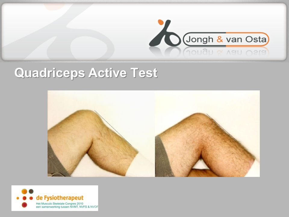 Quadriceps Active Test