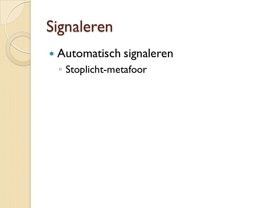 Signaleren Automatisch signaleren Stoplicht-metafoor