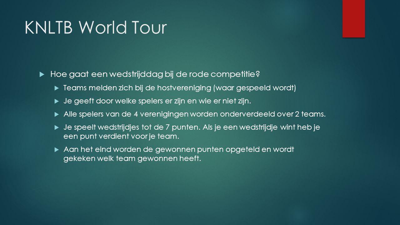 KNLTB World Tour Hoe gaat een wedstrijddag bij de rode competitie