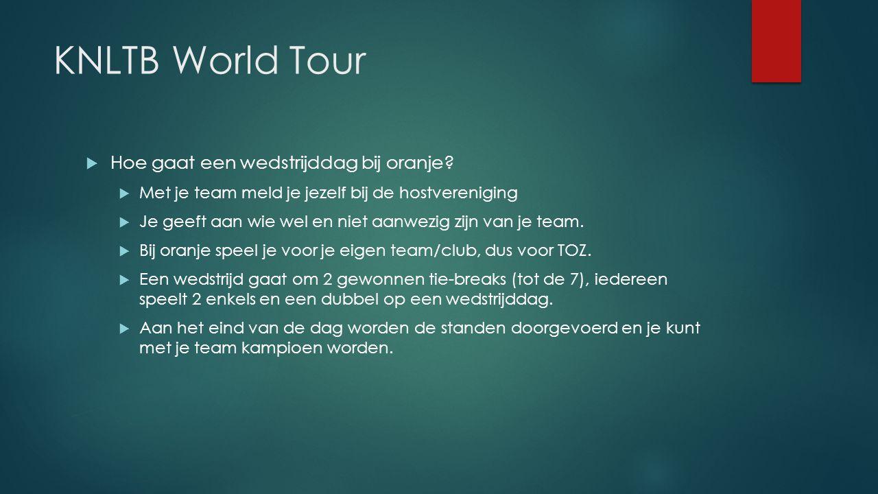 KNLTB World Tour Hoe gaat een wedstrijddag bij oranje