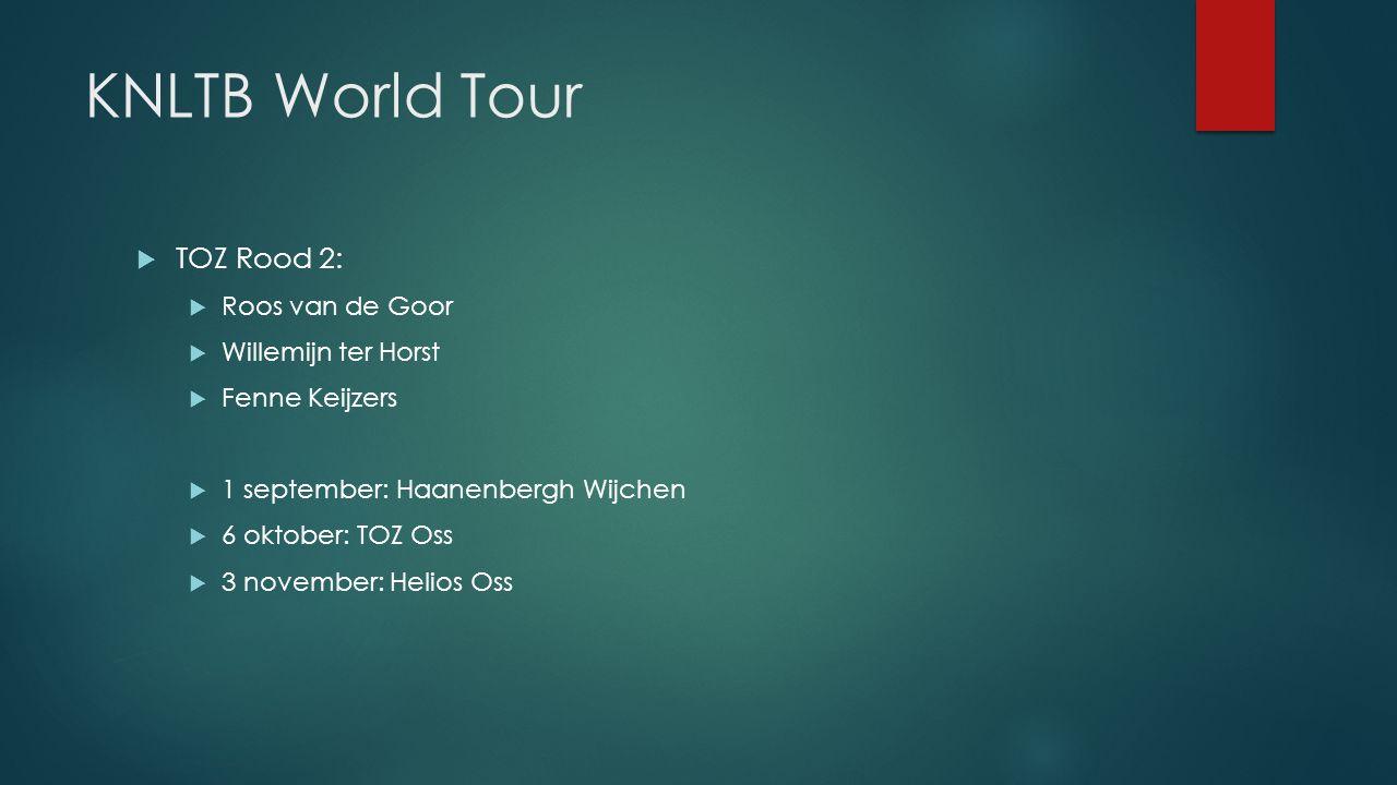 KNLTB World Tour TOZ Rood 2: Roos van de Goor Willemijn ter Horst