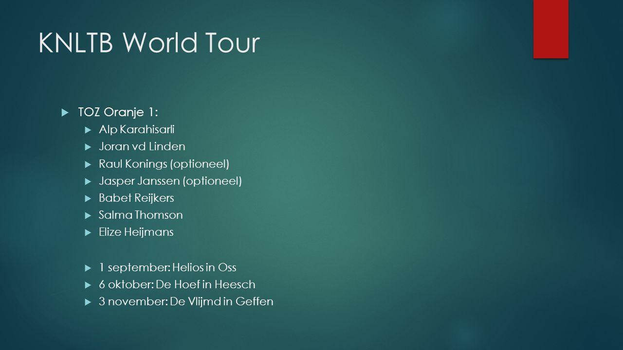 KNLTB World Tour TOZ Oranje 1: Alp Karahisarli Joran vd Linden