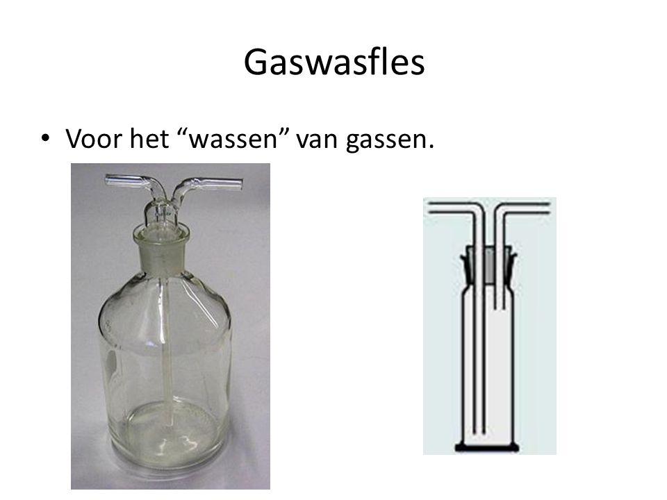 Gaswasfles Voor het wassen van gassen.