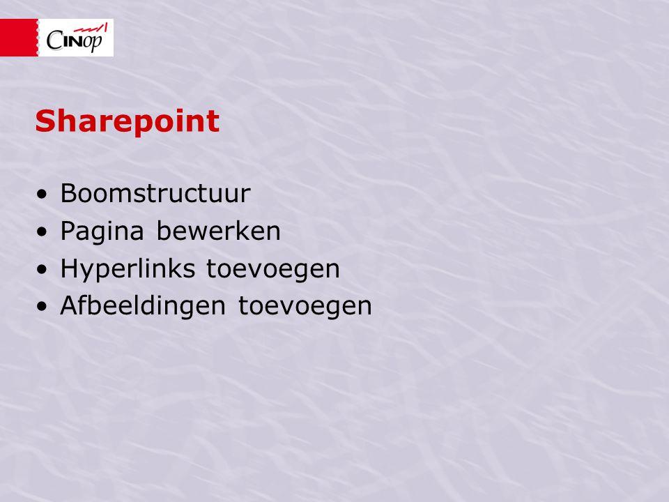 Sharepoint Boomstructuur Pagina bewerken Hyperlinks toevoegen