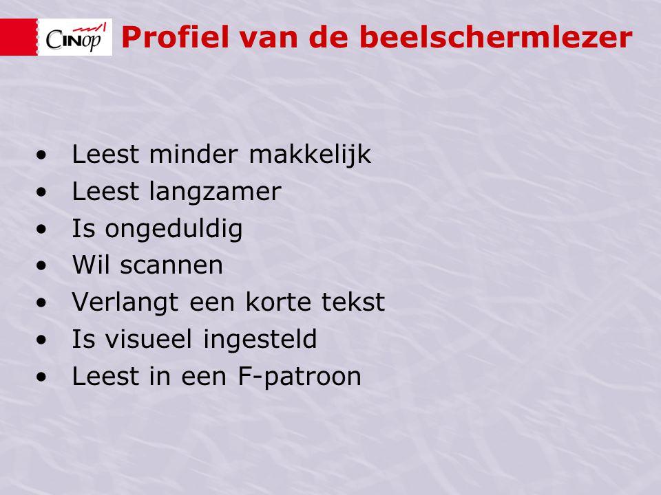 Profiel van de beelschermlezer