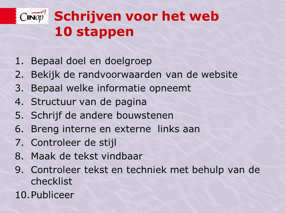 Schrijven voor het web 10 stappen