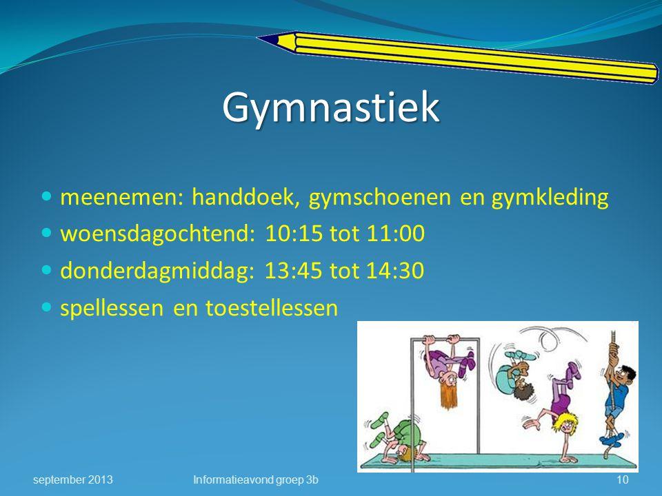Gymnastiek meenemen: handdoek, gymschoenen en gymkleding