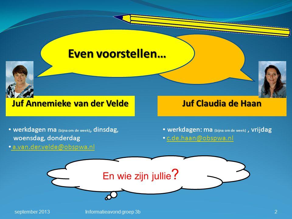 Juf Annemieke van der Velde