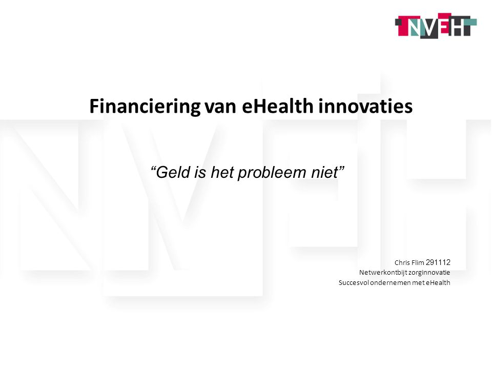 Financiering van eHealth innovaties