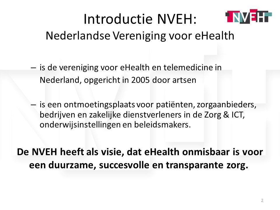 Introductie NVEH: Nederlandse Vereniging voor eHealth