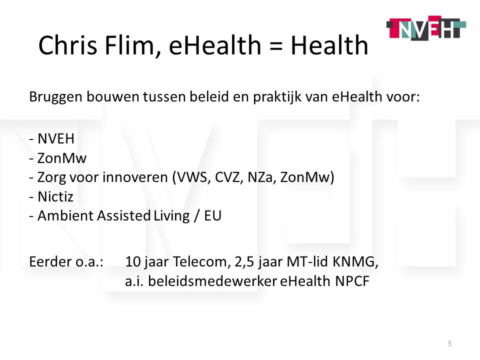 Chris Flim, eHealth = Health