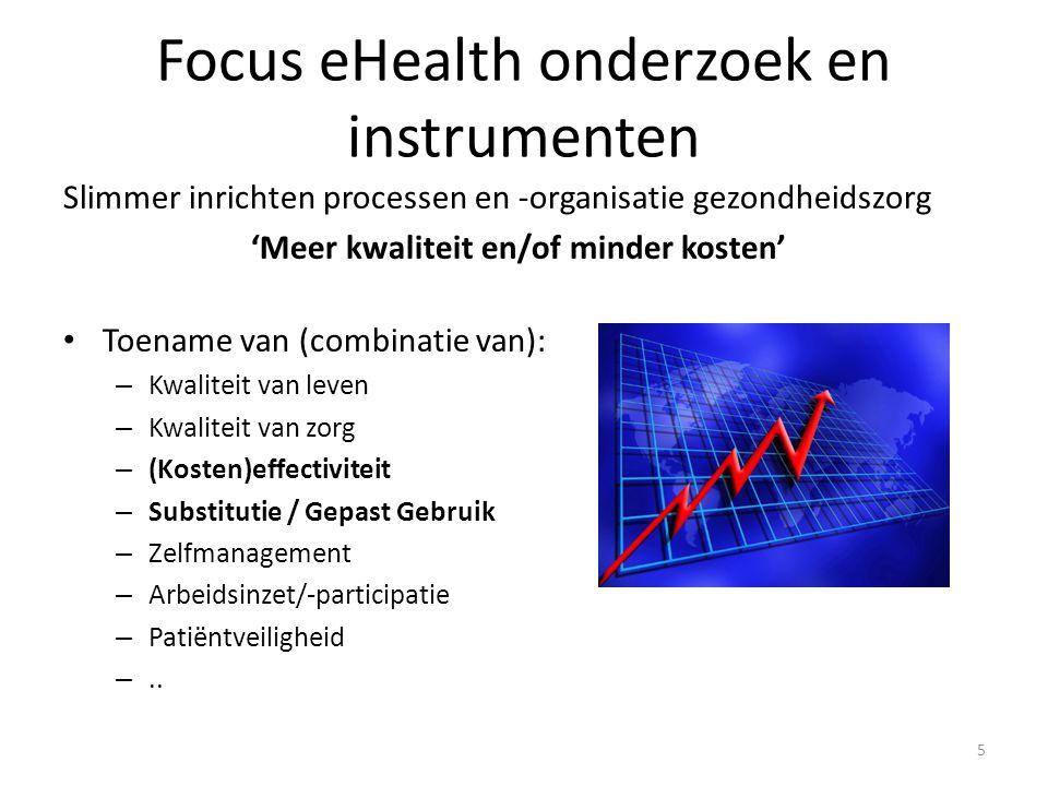 Focus eHealth onderzoek en instrumenten