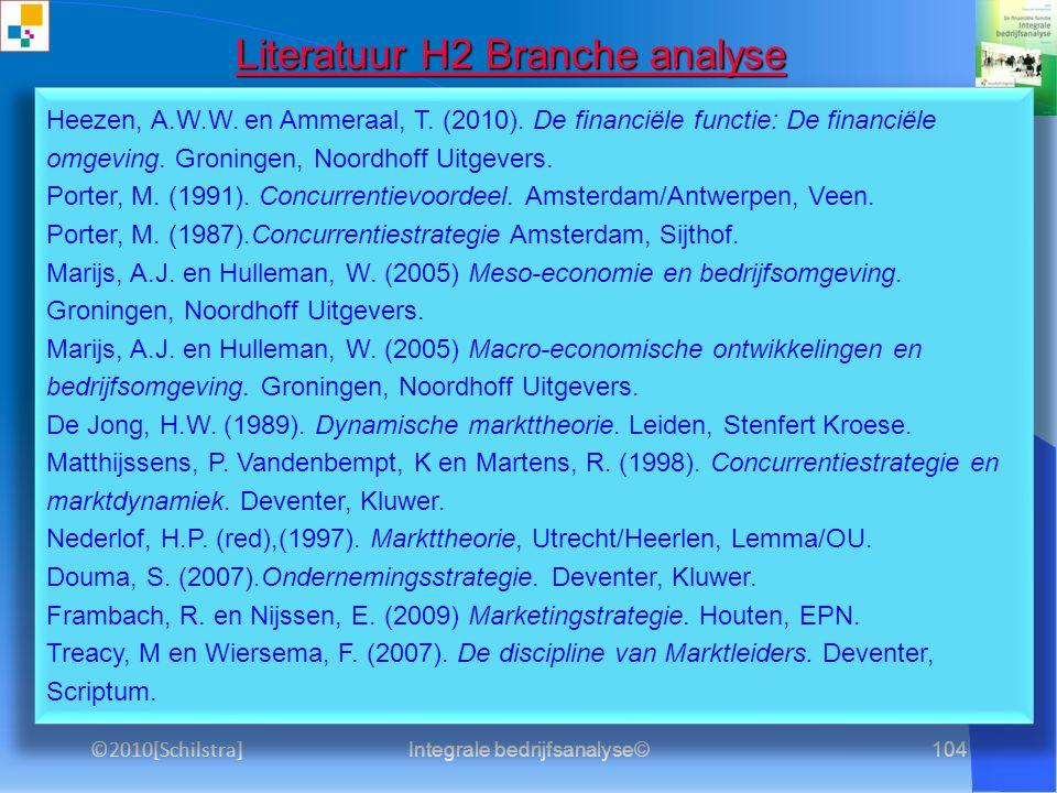 Literatuur H2 Branche analyse