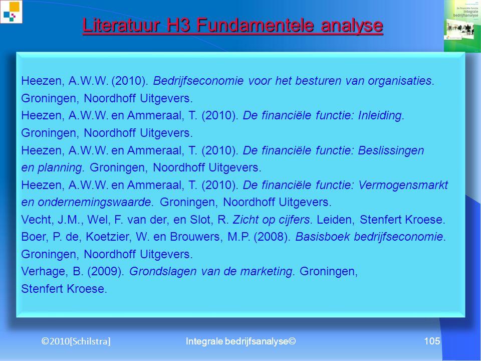 Literatuur H3 Fundamentele analyse