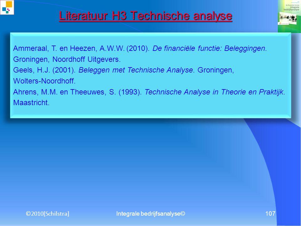 Literatuur H3 Technische analyse