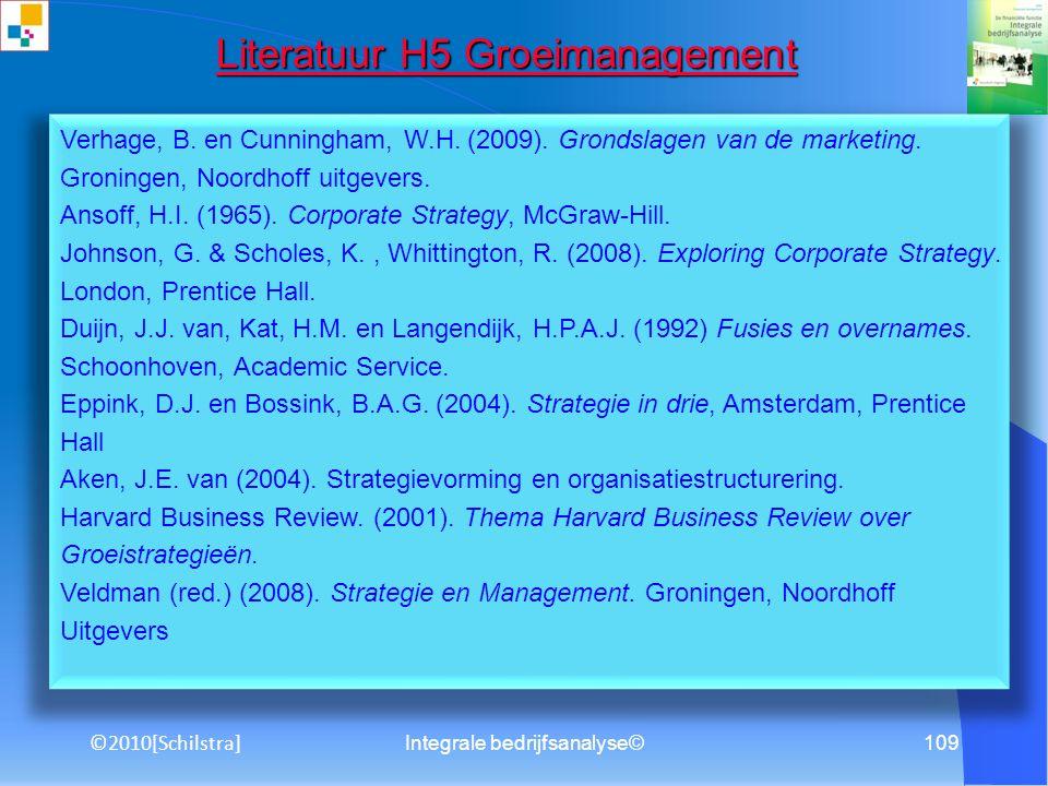 Literatuur H5 Groeimanagement
