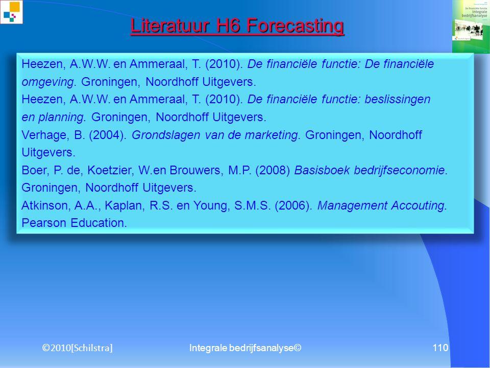 Literatuur H6 Forecasting