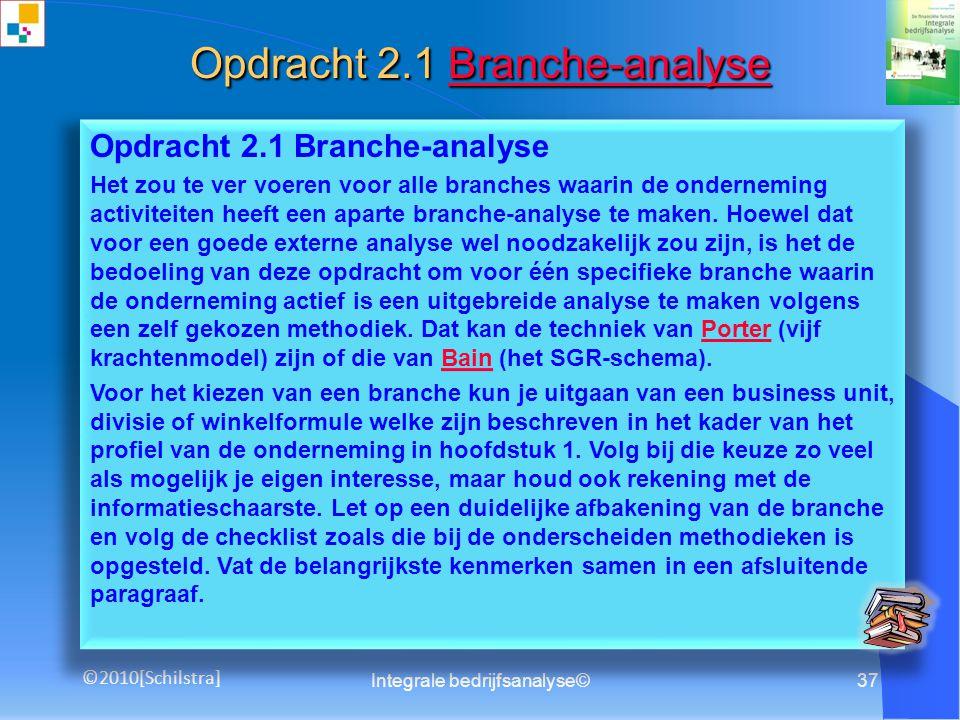 Opdracht 2.1 Branche-analyse