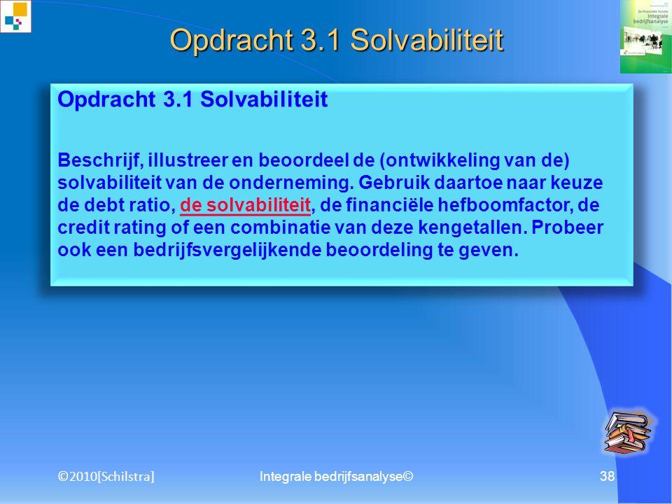 Opdracht 3.1 Solvabiliteit