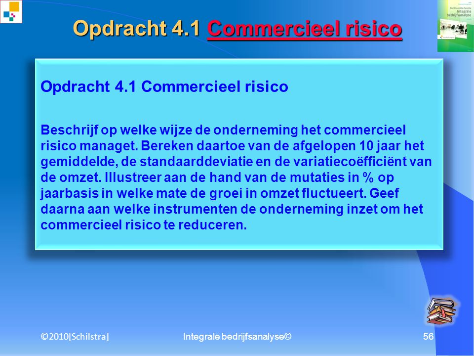 Opdracht 4.1 Commercieel risico