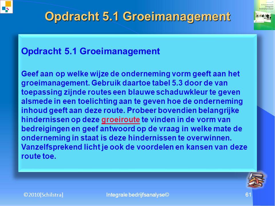 Opdracht 5.1 Groeimanagement