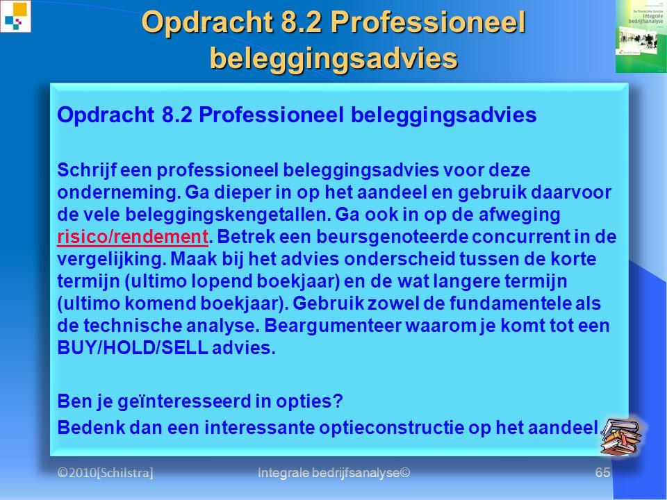 Opdracht 8.2 Professioneel beleggingsadvies