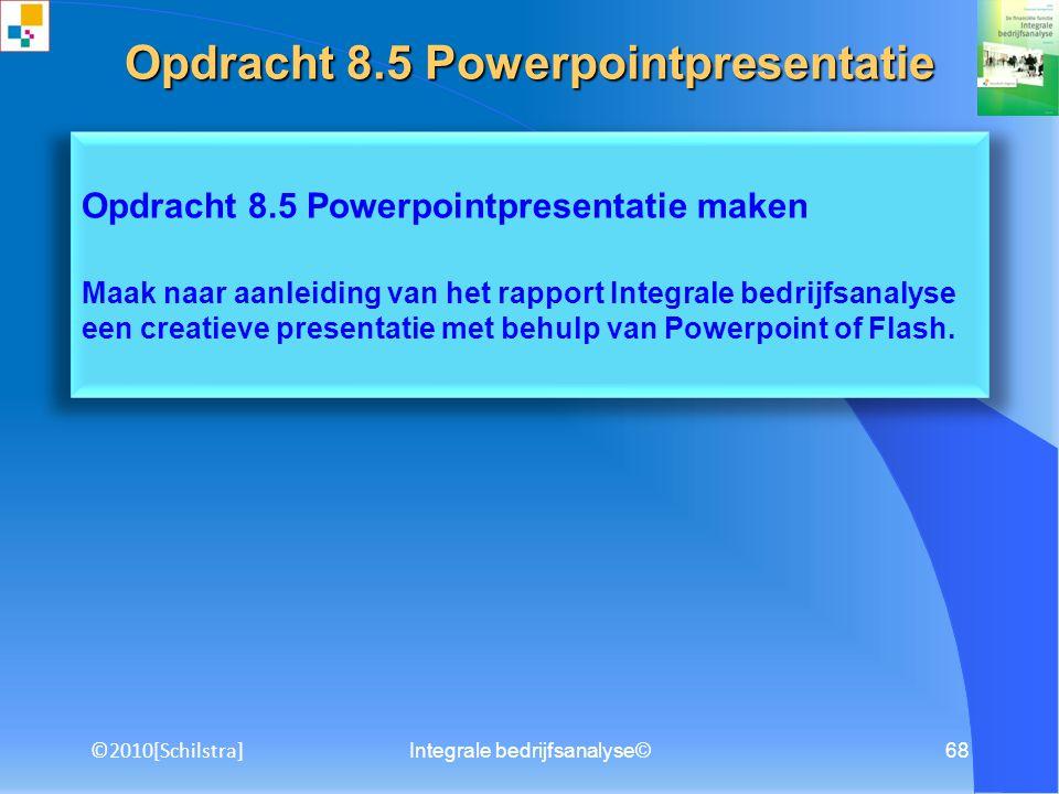 Opdracht 8.5 Powerpointpresentatie