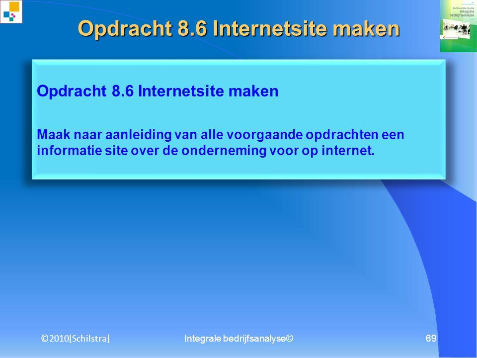 Opdracht 8.6 Internetsite maken