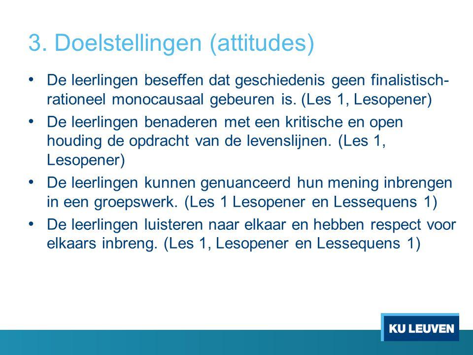 3. Doelstellingen (attitudes)