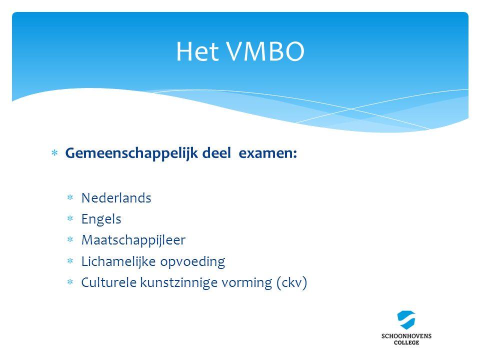 Het VMBO Gemeenschappelijk deel examen: Nederlands Engels