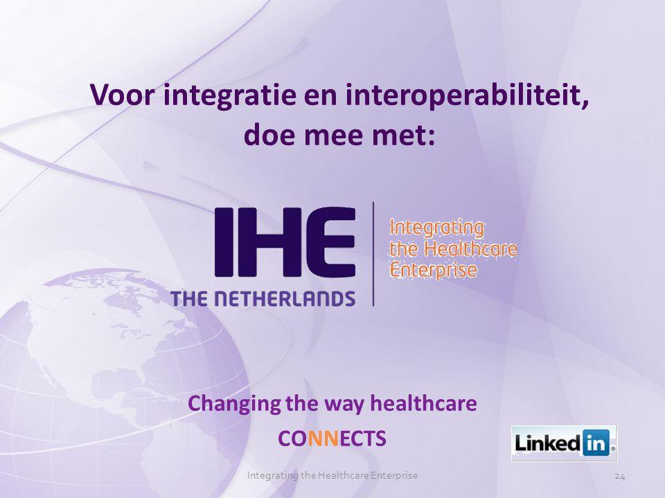 Voor integratie en interoperabiliteit, doe mee met: