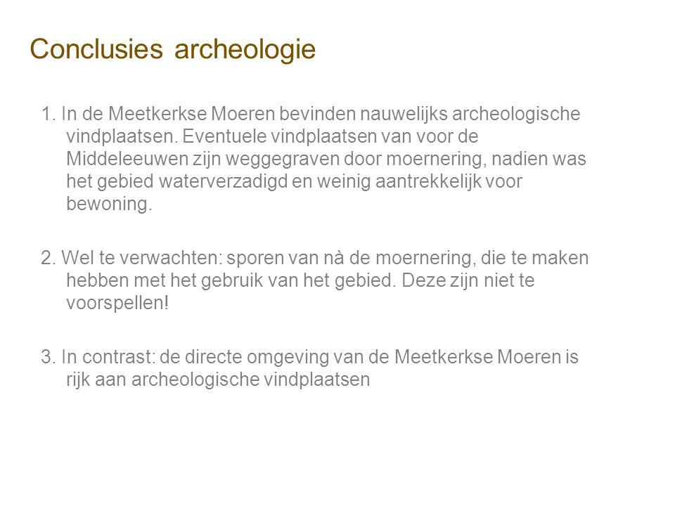 Conclusies archeologie