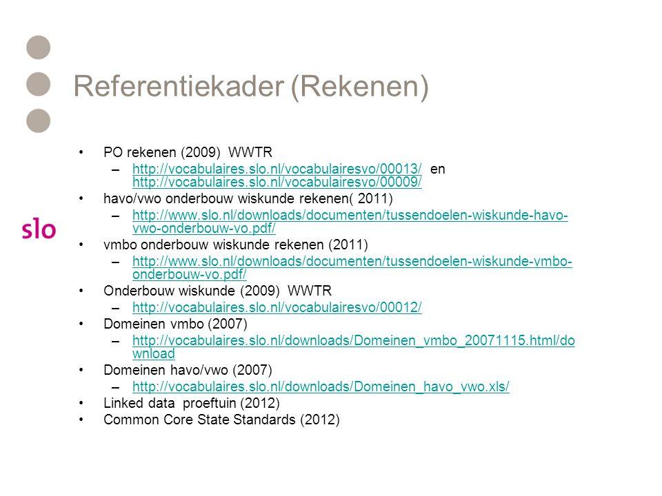 Referentiekader (Rekenen)