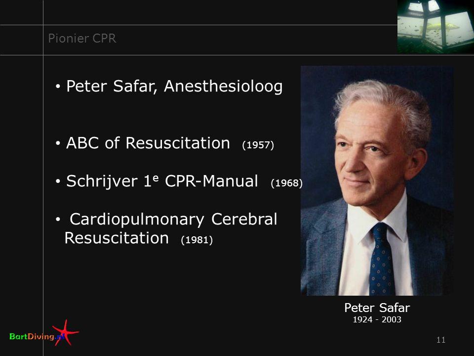 Peter Safar, Anesthesioloog