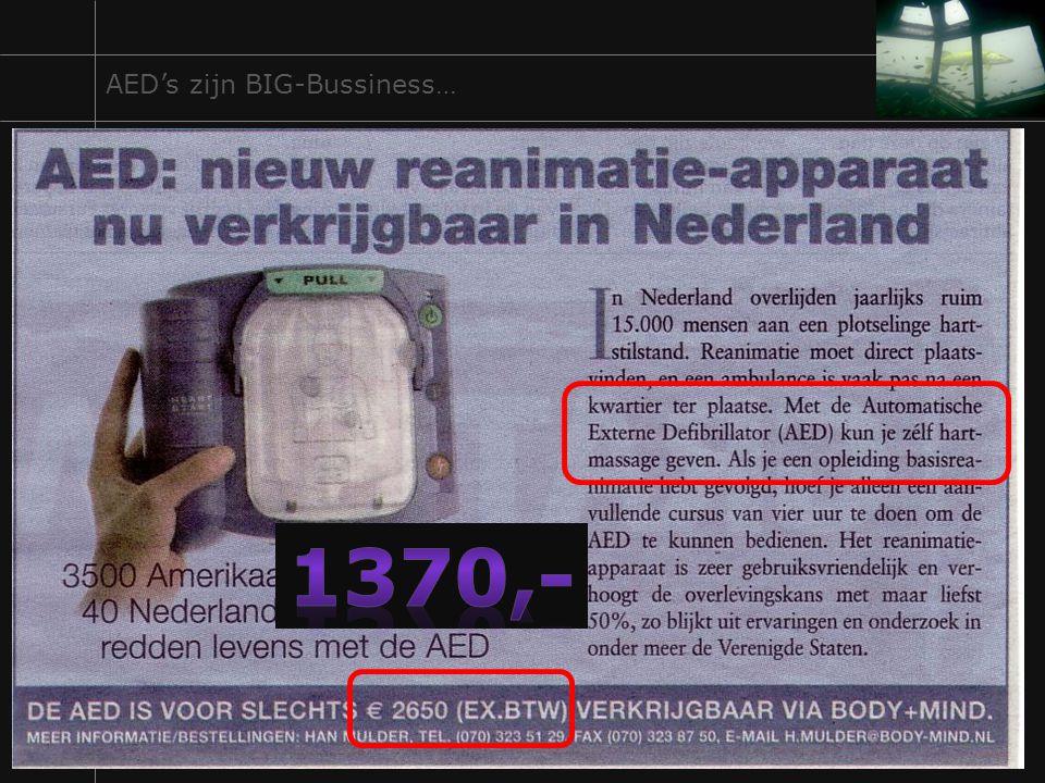 1370,- AED's zijn BIG-Bussiness…