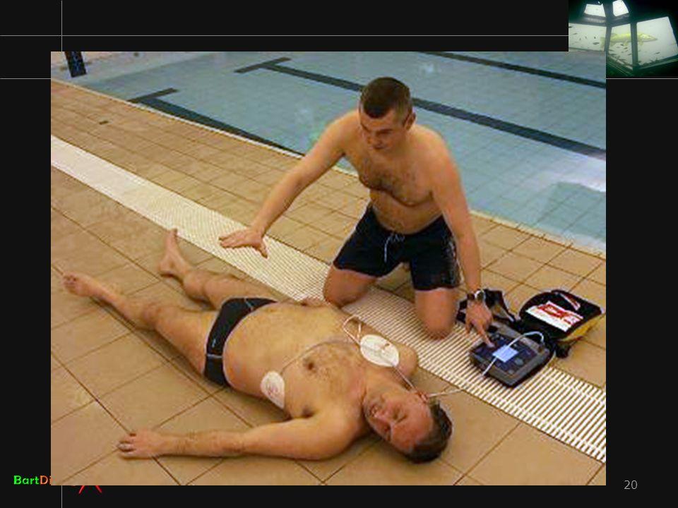 Houd de AED wel droog svp.