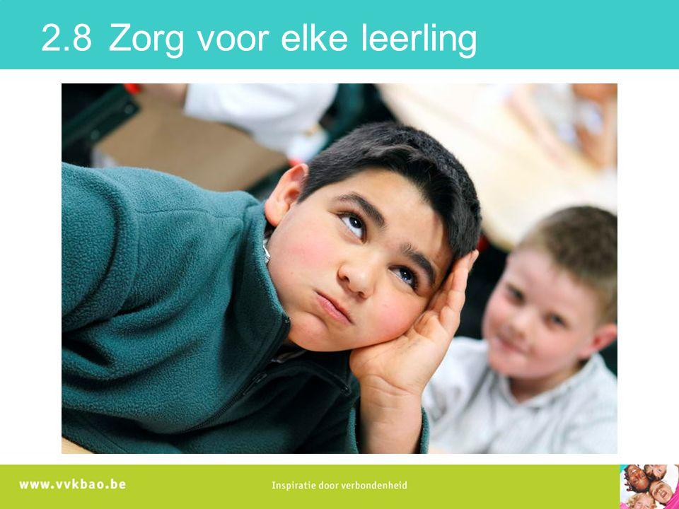2.8 Zorg voor elke leerling