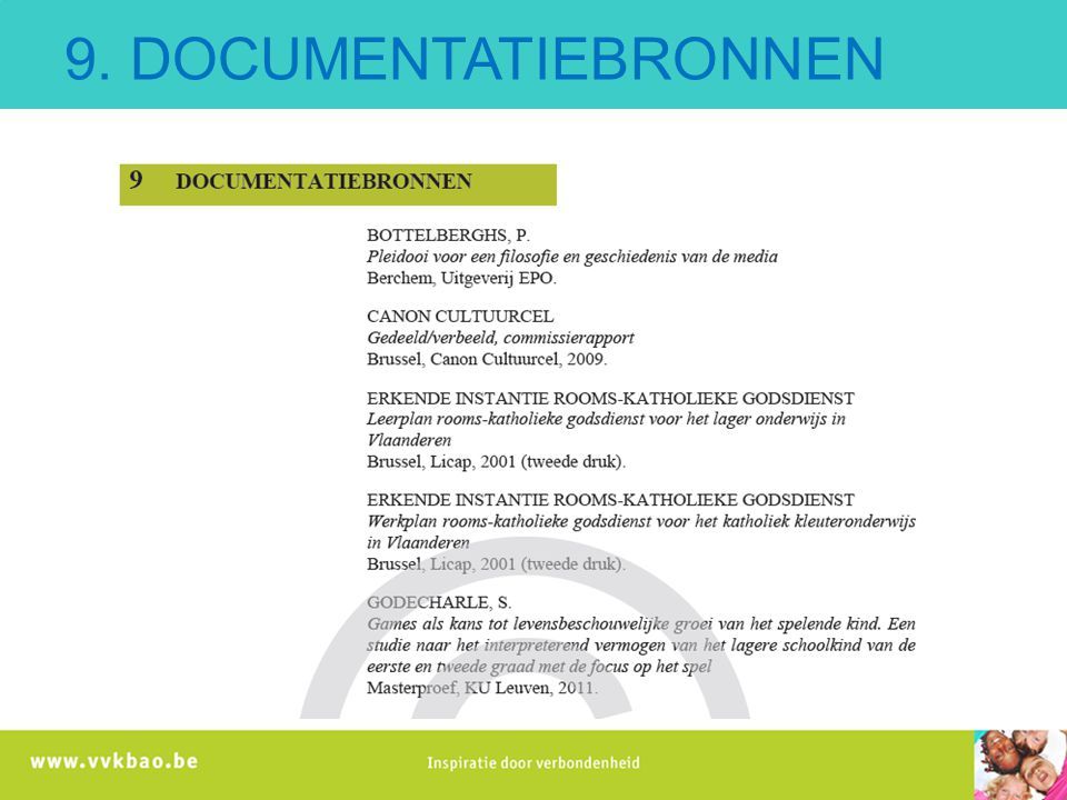 9. DOCUMENTATIEBRONNEN