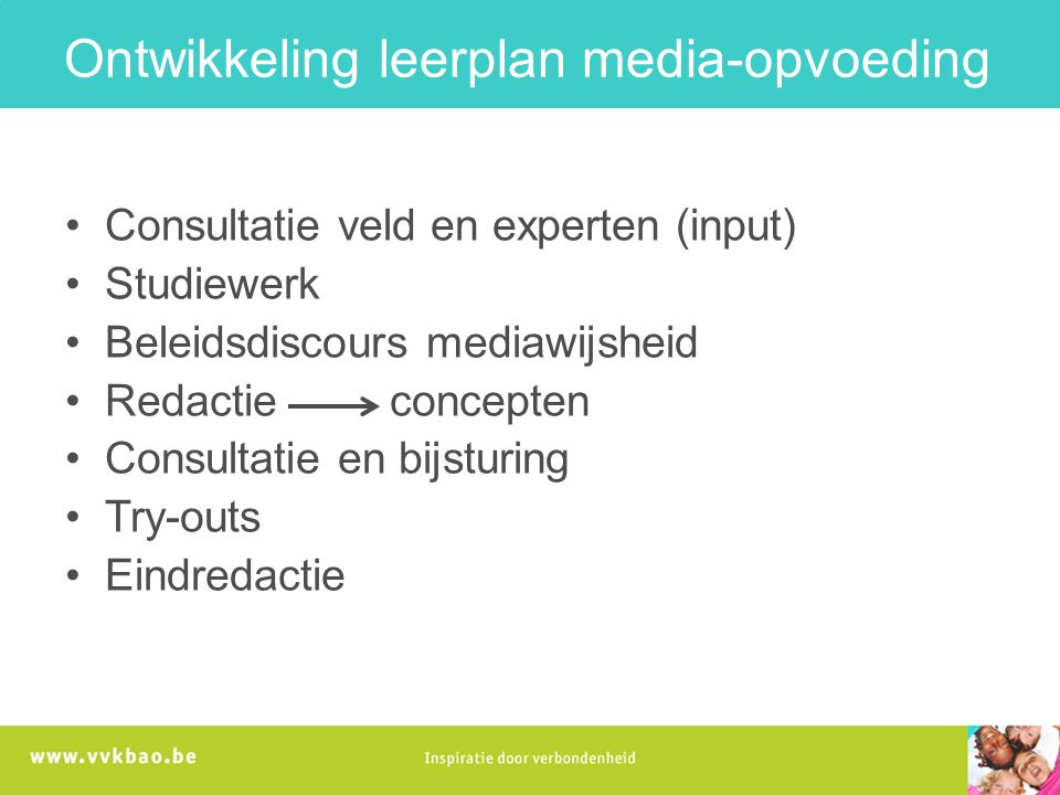 Ontwikkeling leerplan media-opvoeding