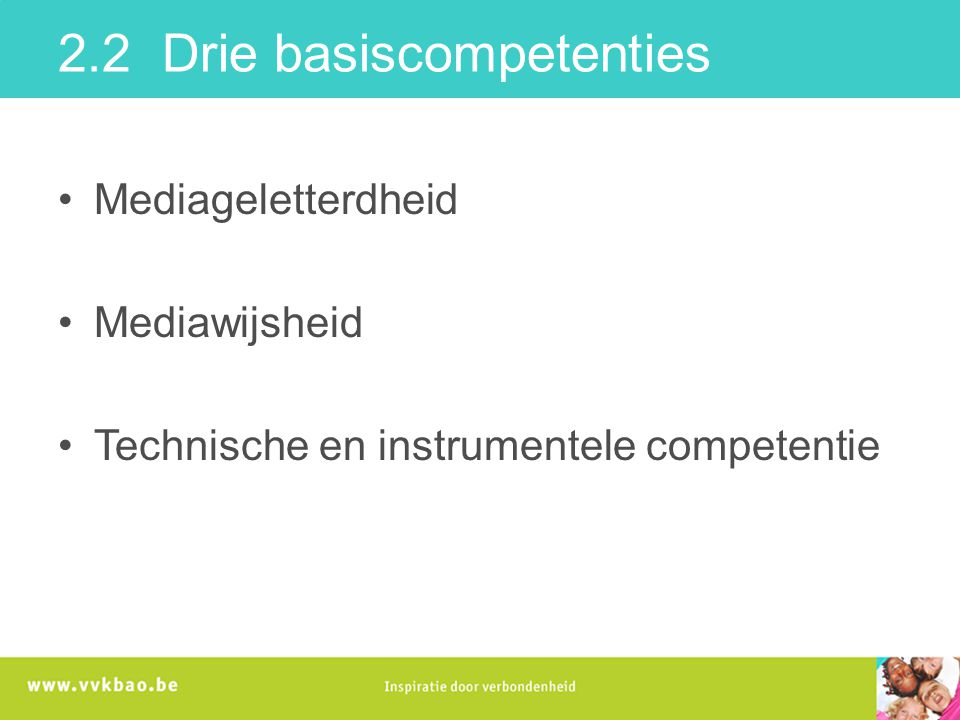 2.2 Drie basiscompetenties