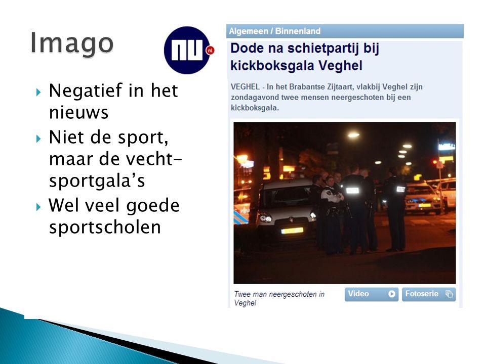 Imago Negatief in het nieuws Niet de sport, maar de vecht- sportgala's