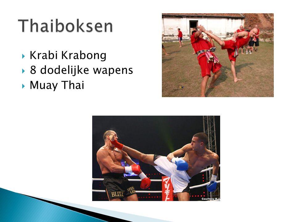 Thaiboksen Krabi Krabong 8 dodelijke wapens Muay Thai