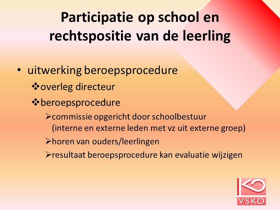 Participatie op school en rechtspositie van de leerling