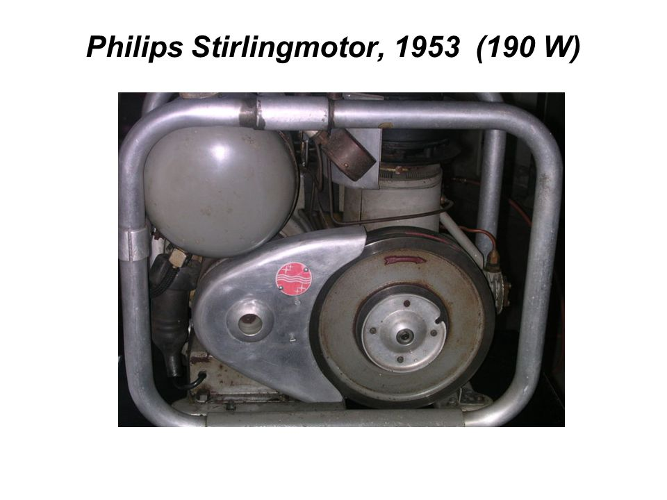 Philips Stirlingmotor, 1953 (190 W)