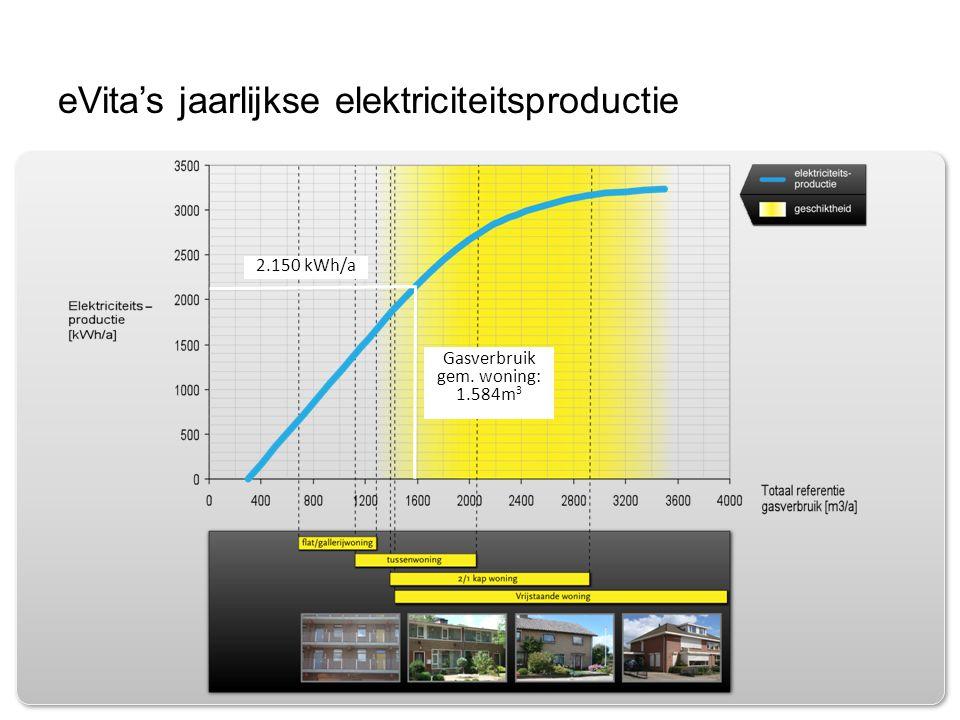 eVita's jaarlijkse elektriciteitsproductie