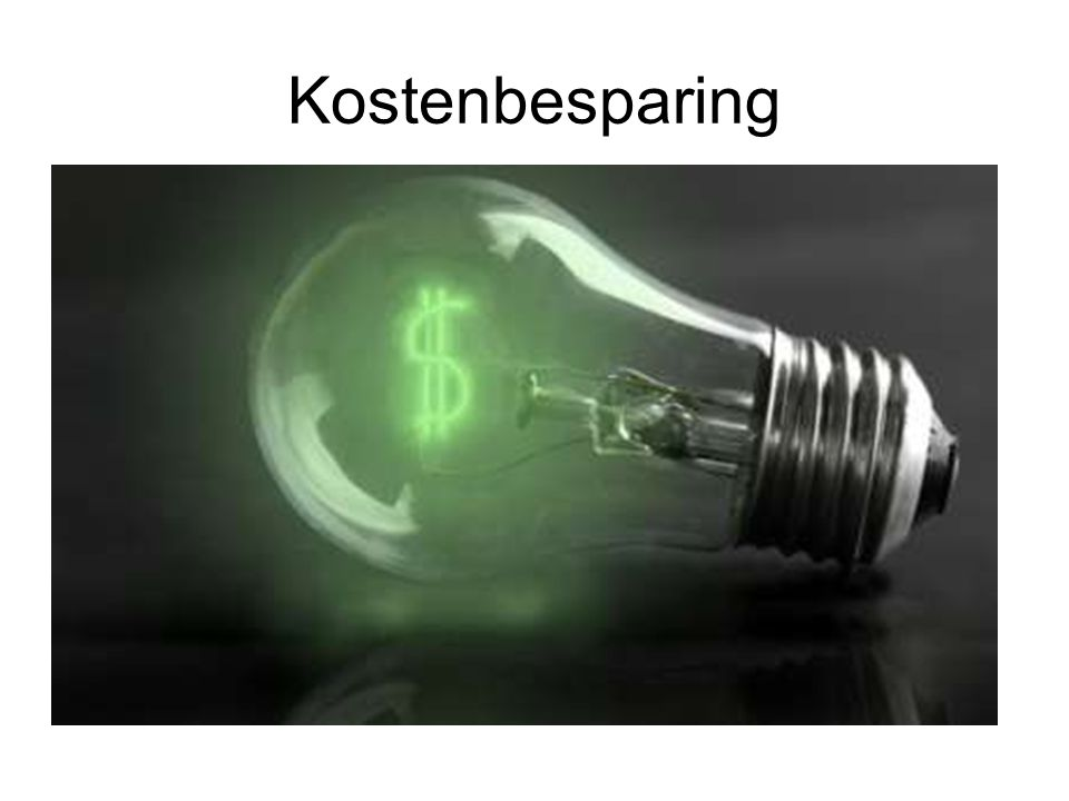 Kostenbesparing